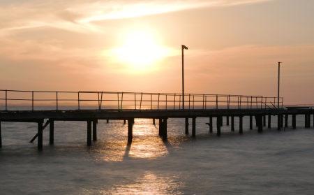 Sunset over Abandoned Pier
